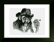 Limited Edition Drawing with Frame - Lemmy Kilmister - Art by SLAZO - 16x20