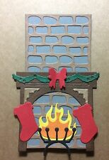 2 Christmas Fireplace Scene - Christmas Card Toppers