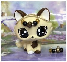 Littlest Pet Shop Cute  Crouching Cat Ooak Custom, Hand Painted With Accesorios
