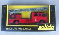 TONER GAM - SOLIDO #3352  - BERLIET FIRE ENGINE LADDER TRUCK