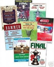 West Ham United Football FA Cup Fixture Programmes (1980s)