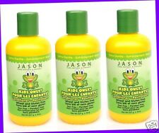 3 JASON Kids Natural ORGANIC Extra Gentle CONDITIONER Gluten Free PARABEN FREE