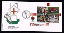 2003 GB L 'image Inglaterra-Campeones Mundial De Rugby Rugby P/M abordan FDC