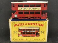Matchbox Yesteryear Y3 Series 1 Is.7 1907 London 'E' Class Tramcar w Type D1 Box