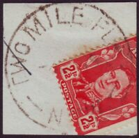 """NSW POSTMARK """"TWO MILE FLAT"""" DATED 1949 - PO CLOSED 4/6/1980 (A11148)"""