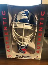 Three Mike Richter Souvenir NHL Goalie Masks Pinnacle/EA Sports From Case