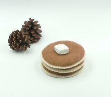 Felt food pancake set, Play kitchen toys, Felt breakfast, Plush toy