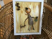 "Pebble Art Picture Box Frame 28 cm X 23 cm  "" Afternoon stroll """