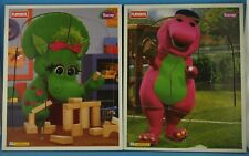 Lot of (2) Vintage Playskool Barney Wooden Tray Puzzles 1996 #324-03, #324-04