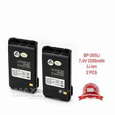 2 x 2200mAh Bp-265 Li-Ion Battery for Icom Ic-T70A Ic-T70E Ic-V80 Ic-V80E Radio
