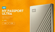 "Western Digital WD My Passport Ultra Gen4 4Tb 2.5"" USB3.0 TypeC MS Window / Gold"