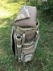 Datrek Miller Golf 14 way Cart Golf Club Bag, Light Brown W/Rain Cover