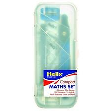 Helix Compact Maths Set (Compass, 2 Squares, Ruler, Eraser, Pencil Sharpener, Pencil, Protractor)