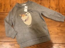 NWT Baby GAP Disney Frozen Olaf Sequins Sweater Grey Size XS 4-5 Years
