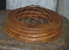 """12 ~ Primitive 3-1/2"""" Rusty Tin Frog Lids ~ Fits Wide Mouth Jar ~ Flower Frogs"""