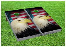 Usa Flag Bald Eagle Cornhole Boards Beanbag Toss Game w Bags Patriotic S 01406