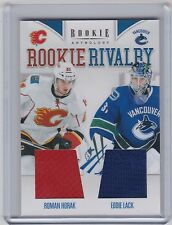11-12 2011-12 ROOKIE ANTHOLOGY HORAK EDDIE LACK ROOKIE RIVALRY DUAL JERSEY 15