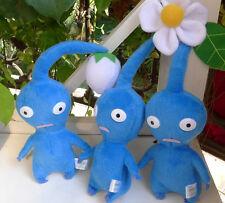 set of 3 Pcs NINTENDO PIKMIN Blue FLOWER BUD/FLOWER/LEAF PLUSH DOLLS