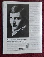 1967 Print Ad DEP Hair Spray ~ YAZ Carl Yastrzemski Boston Red Sox Baseball Star