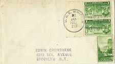31 Janvier 1937 USS Whipple DD 217 Destroyer Naval cover