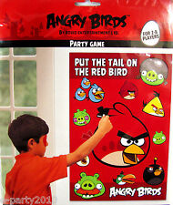 ANGRY BIRDS Pin the Tail PARTY GAME Poster ~  Birthday Supplies Decoration