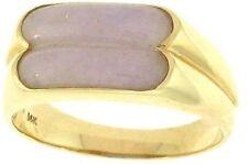 Natural Lavender Jadeite Jade Double Saddle Ring, Size 6.5