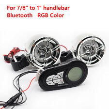 "Bluetooth Motorcycle Stereo Speakers Audio System Fit For 7/8"" to 1"" handlebar"