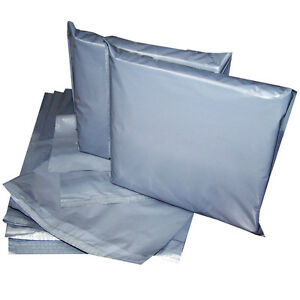 800 x 14x19 Strong Grey Mailing Postal Poly Postage Bags Self Seal Cheap CS