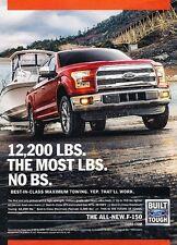 2015 Ford F-150 Truck Best in Class Original Advertisement Print Art Car Ad J548