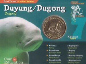 MALAYSIA 25 SEN UNC COIN 2006 YEAR KM#105 DUGONG