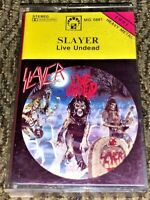 Slayer Live Undead. VG Cassette Tape Plays Well Raw Thrash Metal