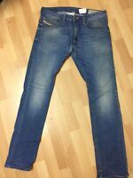 Mens Diesel THAVAR STRETCH DENIM ROW85 Blue Slim W32 L32 H6 RRP£150