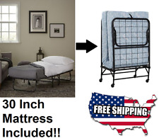 Guest Beds And Folding Rollaway Bed With Mattress Portable Metal Frame Furniture