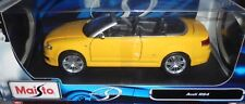 car 1/18 MAISTO 31147 AUDI RS4 CABRIO YELLOW 2007 NEW BOX