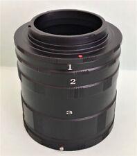 Conjunto de tubo de extensión macro para imágenes de extrema de cerca para Minolta MD, Nueva En Caja