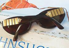 Gianni Versace Vintage Sonnenbrille MOD 480/B COL 900 - Oval Braun Gold Medusa