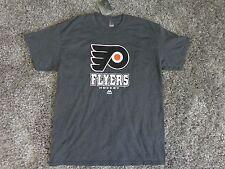 NHL Philadelphia Flyers T-Shirt Gray by Majestic ( L ) Free Shipping !!!!