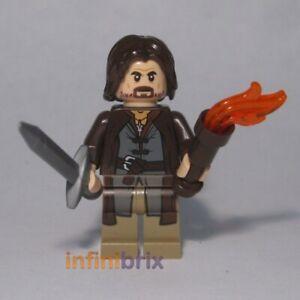 Lego Aragorn Minifigure (Alternative Head) Lord of the Rings NEW cus112