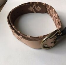 Lucky Brand Unisex Woven Leather Belt Tan Size M