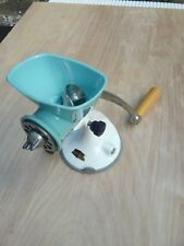 Vintage/Retro Spong Mincer N605 Blue Stainless Steel Suction Base Kitchenalia