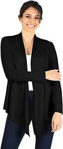 Simlu Open Front Cardigan Reg and Plus Size Lightweight Cardigans for Women Long