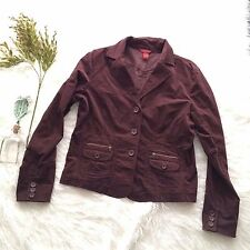 Sundance Catalog Velvet Velour Jacket Blazer Chocolate Brown Hippie Boho sz 12