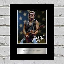 Bruce Springsteen Signed Mounted Photo Display