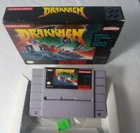 DRAKKHEN SNES SUPER NINTENDO GAME IN BOX