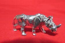 Pewter Rhinoceros Rhino Figurine
