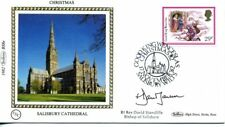 1982 Christmas first day cover SIGNED David Stancliffe, Bishop of Salisbury