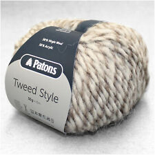 "500g (27€/kg) Patons / Schachenmayr "" TWEED STYLE "" 88 Natur weiche Wolle"