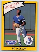 1990  BO JACKSON - Kenner Starting Lineup Card - KANSAS CITY ROYALS (Yellow)