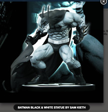 DC COMICS BLACK & WHITE BATMAN STATUE BY SAM KIETH (FACTORY SEALED)