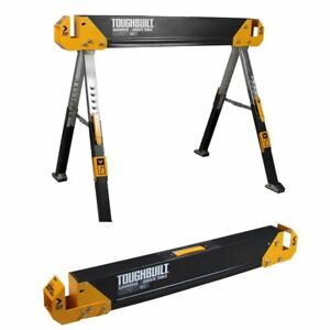 STEEL SAWHORSE JOBSITE TABLE 42.4 Inch Pivot Adjustable Height 1300 Lb Capacity